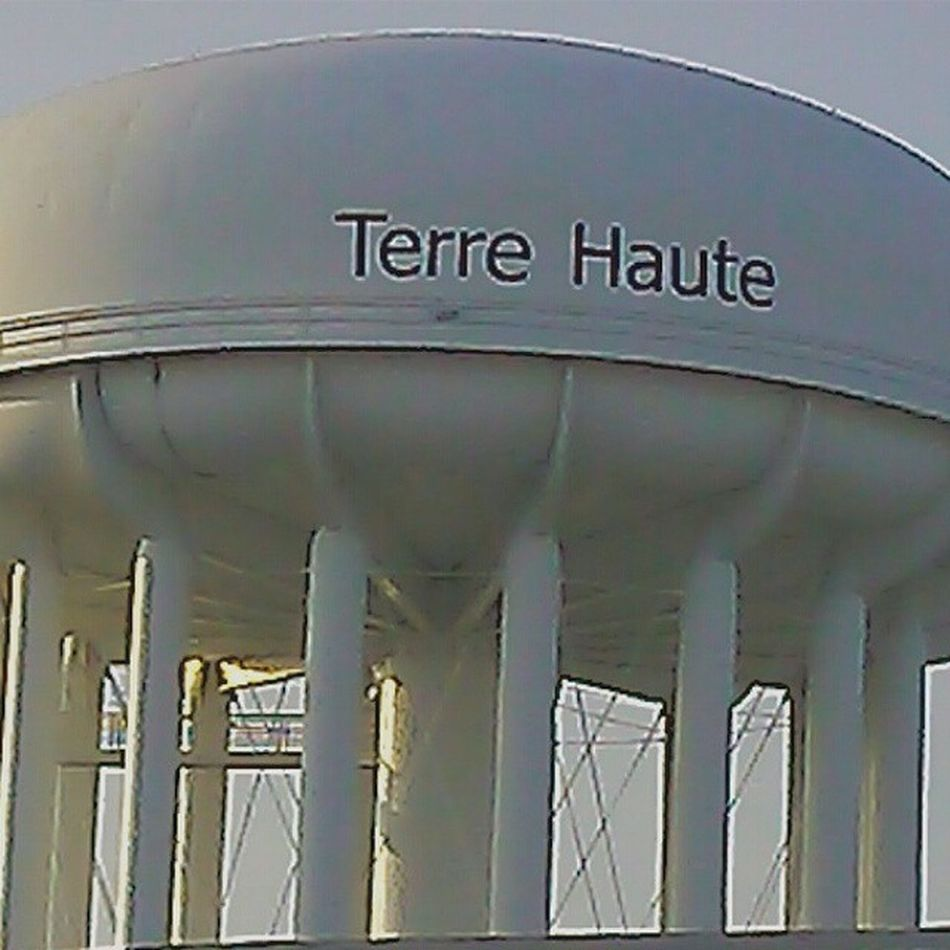 Yes, I live in a WatertowerTown :) Terrehaute ALevelAbove Highland myhometown city town Indiana watertower