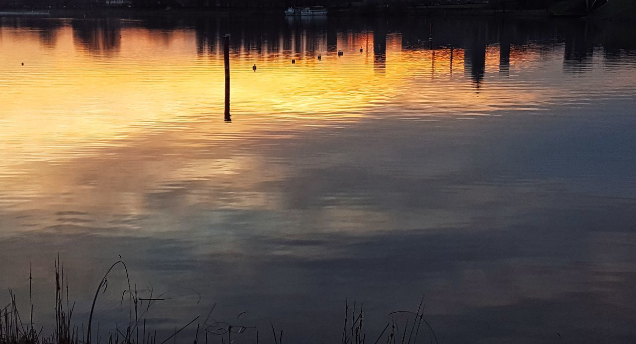 Water Reflection Sunset Lake Tranquility Nature Outdoors No People Tranquil Scene Yellow Beauty In Nature Scenics Reflection Lake Landscape Day First Eyeem Photo Taking Photos Check This Out Hanging Out Tranquility Nature