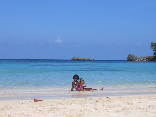 Beach Beauty In Nature Jamaica Jamaican Child Nature Sand Sea Sky Tranquil Scene Vacations Water