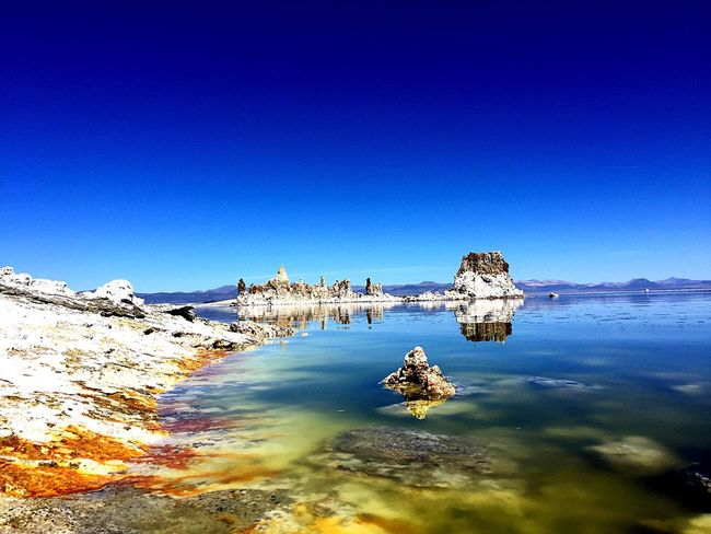 Mono Lake Eastern Sierra Reflection Nature Rock Formation Colors Photography Water Beauty Outdoors Geology
