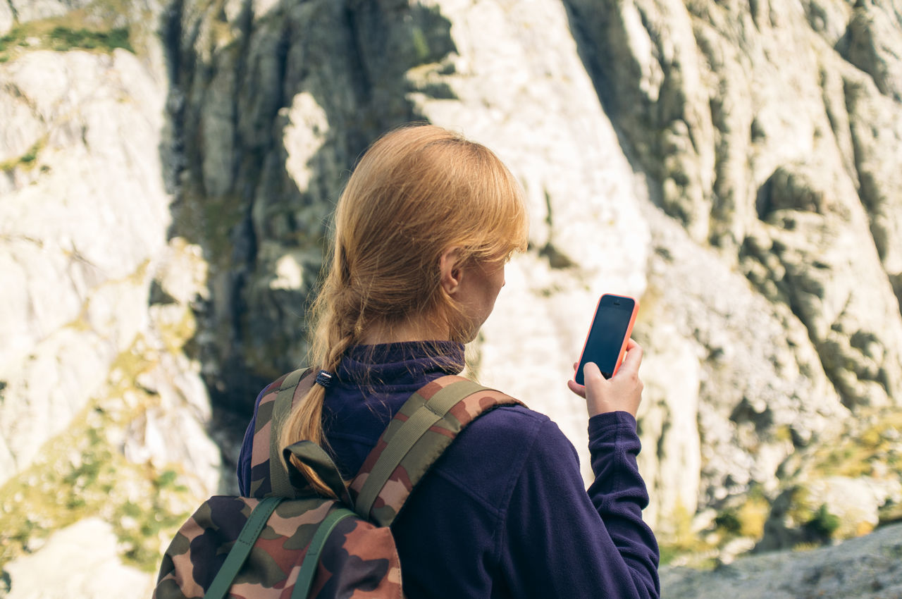 Beautiful stock photos of phone, Backpack, Close-Up, Day, Focus On Foreground