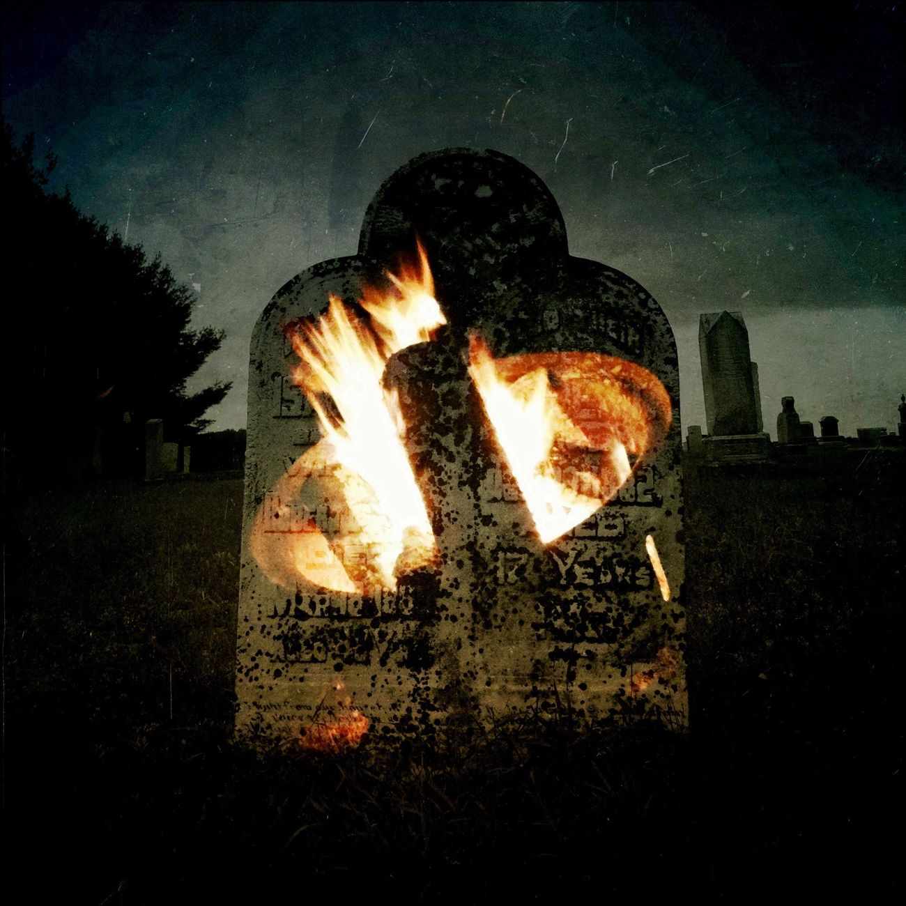 Double Exposure My Soul Is Stained... Fire Good, Fire Friend Graveyard Beauty