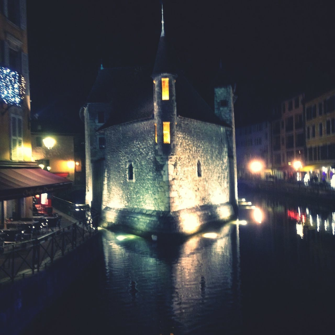 illuminated, night, architecture, transportation, built structure, building exterior, mode of transport, no people, water, outdoors, city, sky