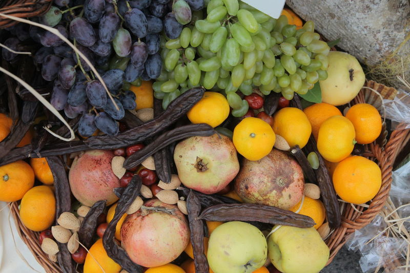 Autumn Harvest Organic Agriculture Almond Autumn Bunch Food Food And Drink Freshness Fruit Grapes Harvest Healthy Healthy Eating Ingredient Organic Pomegranate Quince Raw Ripe Season  Tangerine Vegetables Vitamin