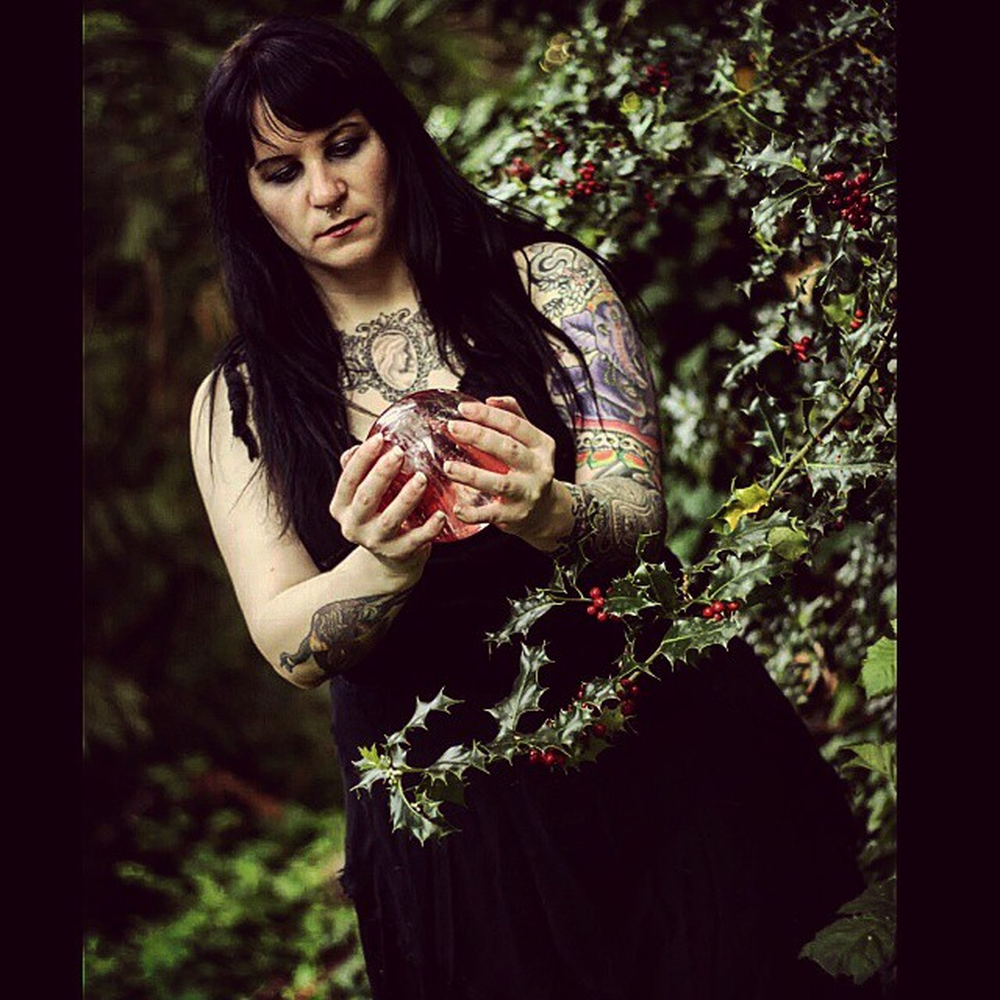 One of the pictures that I took on a shoot for SirensRain Funshoot Crystalball Leadsinger Tattoos Metal MetalBand ShootWithSomeoneSpecial Canon Rebel T5i Moretocome 😈