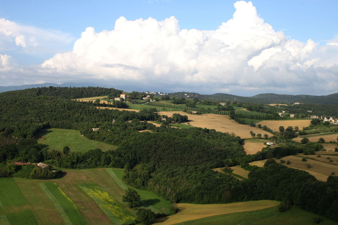Amelia Cloud - Sky Day Field Green Color Hill Horizon Over Land Italy Landscape Nature Outdoors Remote Rural Scene Sky Umbria