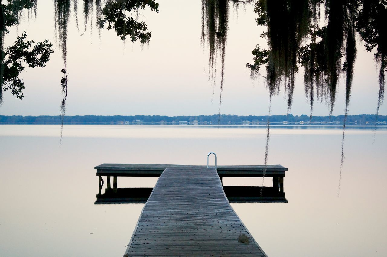 Minneola Florida Beauty In Nature Day Dock Escape Escaping Escapism EyeEm Best Shots Hanging Moss Lake Landscape Morning Light Nature No People Outdoors Reflection Serene Sky Still Water Tree Trees Wandering Water Wood Paneling Live For The Story