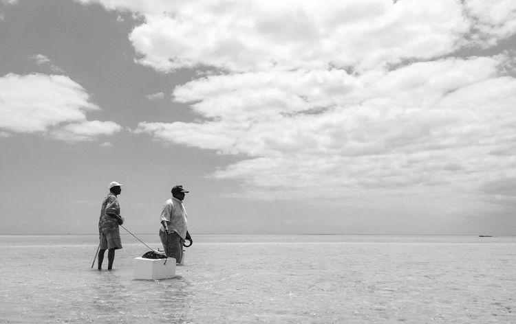 Bahamas Black And White Blackandwhite Caribbean Caribbean Life Cloud - Sky Clouds And Sky Fisherman Fishing Island Life Lifestyles Men Nassau Nassau, Bahamas Nature Old Bahamas Outdoors Sea Sea And Sky The Bahamas Two People