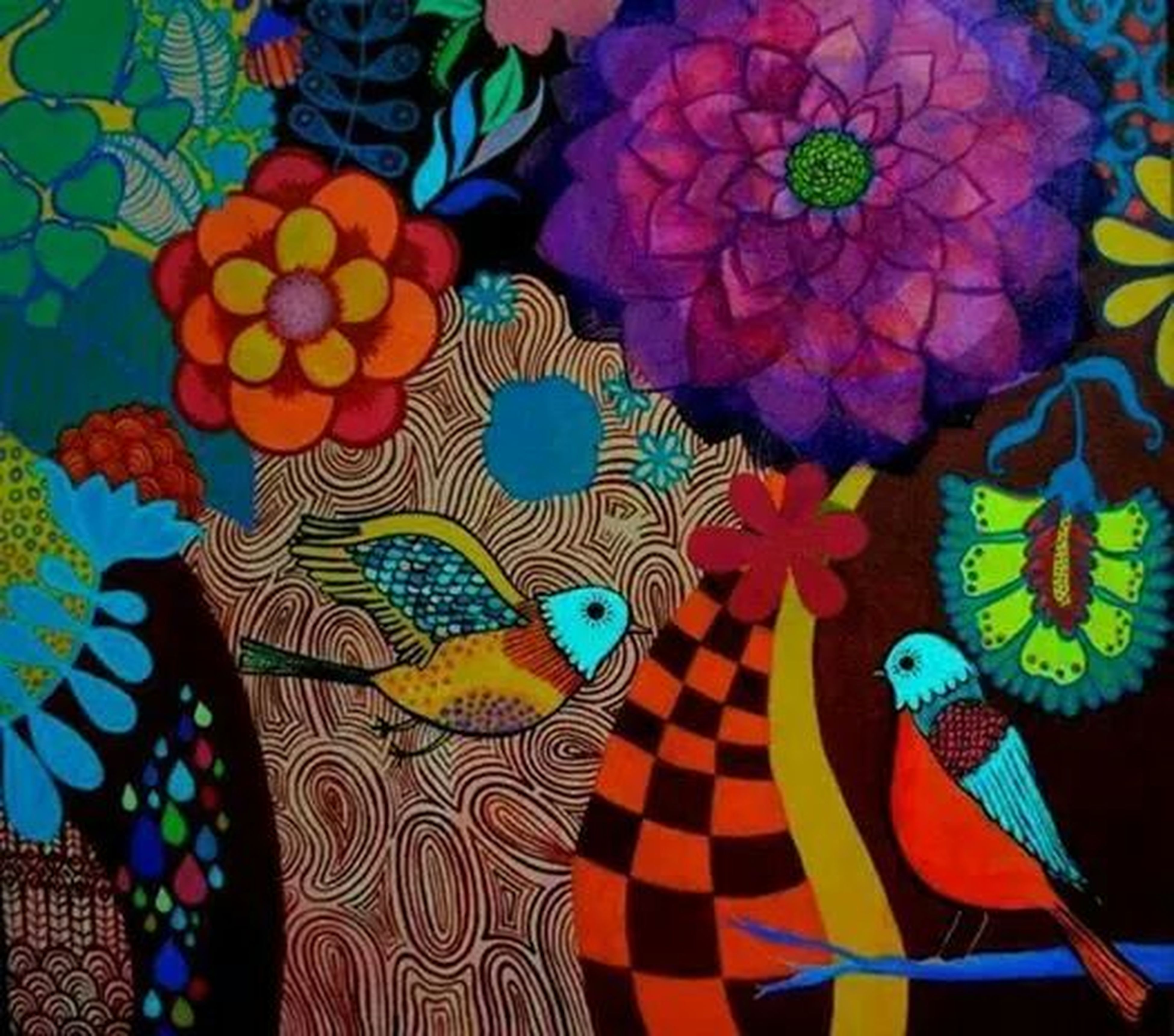 multi colored, art and craft, creativity, indoors, art, pattern, design, colorful, floral pattern, decoration, high angle view, craft, variation, celebration, full frame, animal representation, tradition, human representation