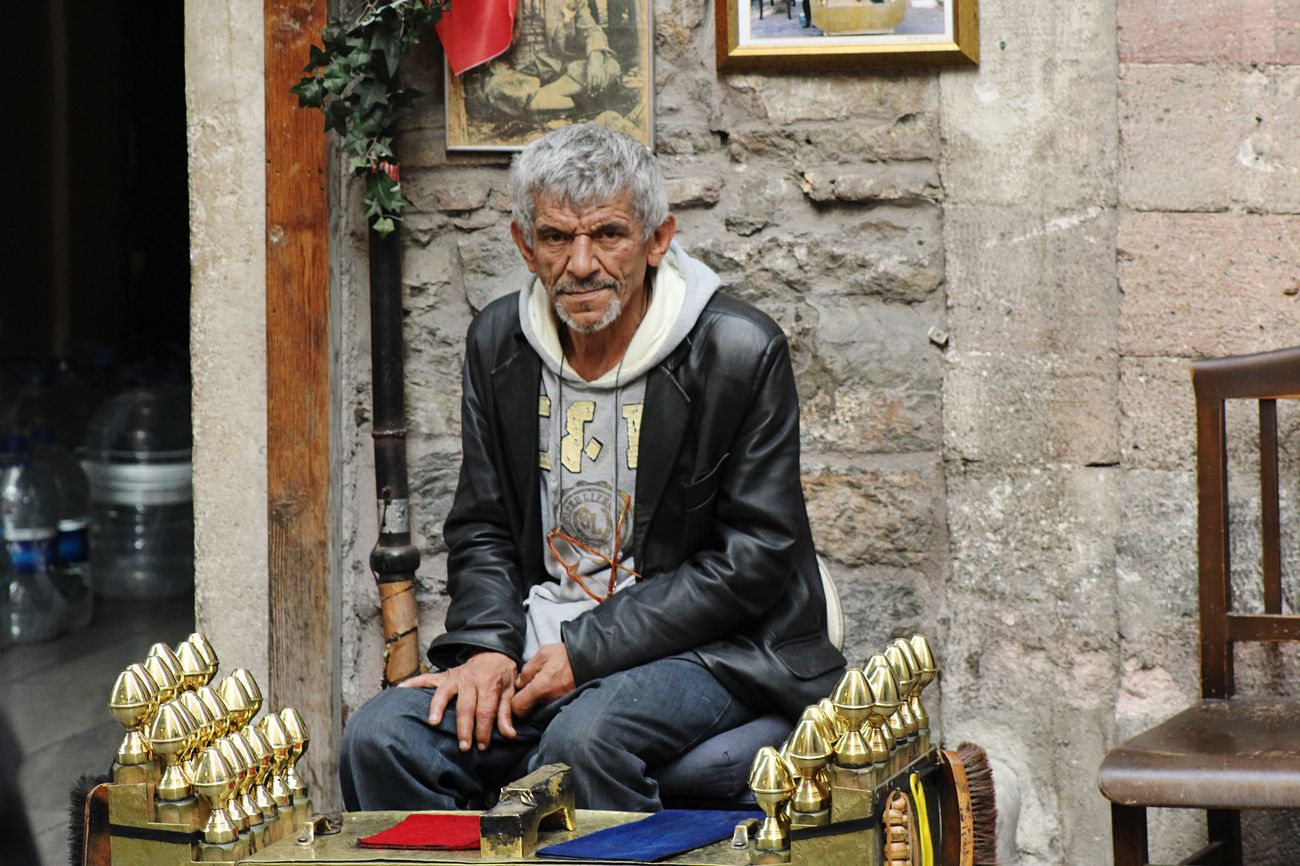 Istanbul Turkey The Story Behind The Picture Every Picture Tells A Story Istanbuldalasam Social Photography The Human Condition Asmalımescit Taksim Turkey he is a traditional shoeblack who works in tunel/istanbul. He is very handsome like an artist. They are the beatiful people of my country.