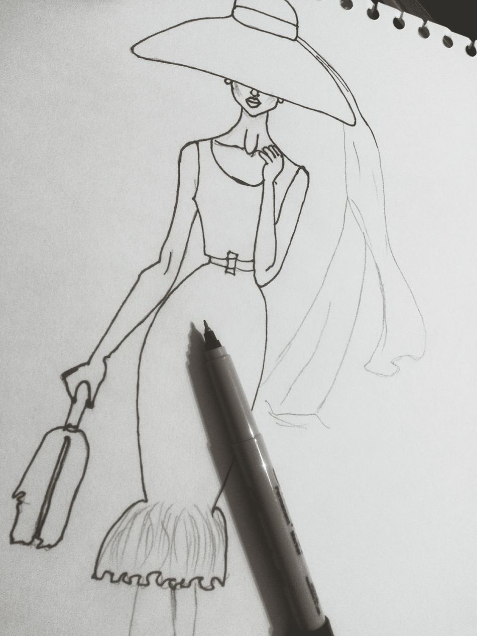 Sketching Feltip Gonnaddsomecolours Street Fashion Beauty Hat