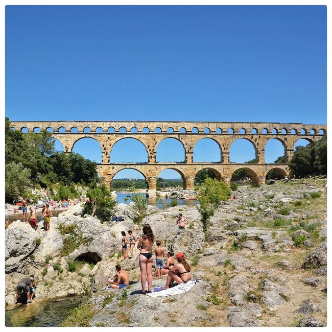 Holidays ☀ France Pont Du Gard Just Taking Pictures Water Swimming