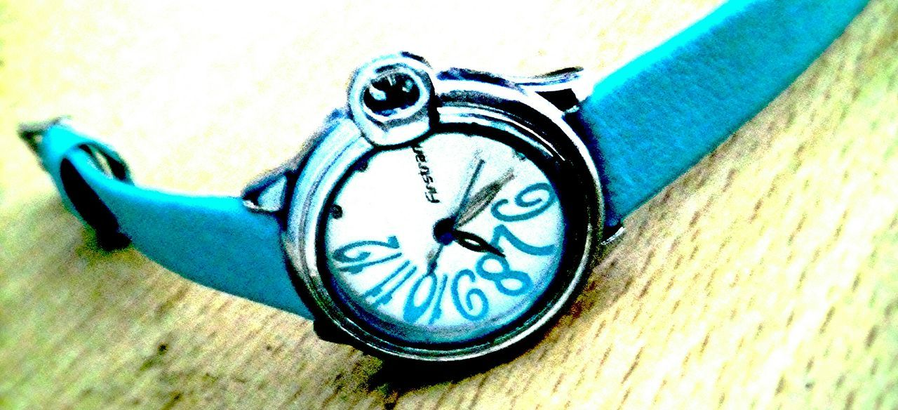 Blue Close-up No People Day Watch Handwatch Silent Photograph