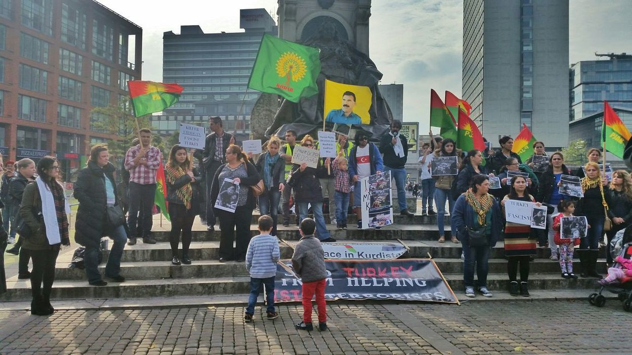 Protest Turkey Piccadilly Gardens