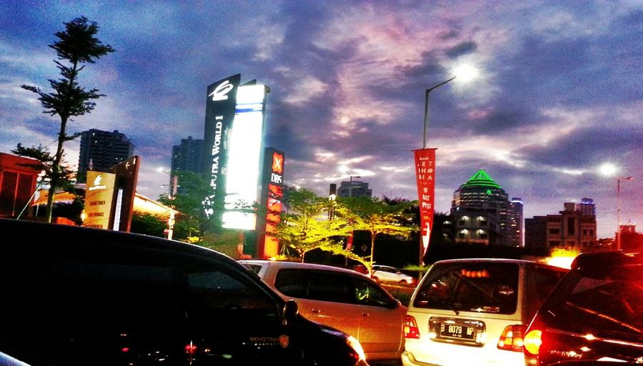 jakarta in the evening... Taking Photos Enjoying The View Great Atmosphere