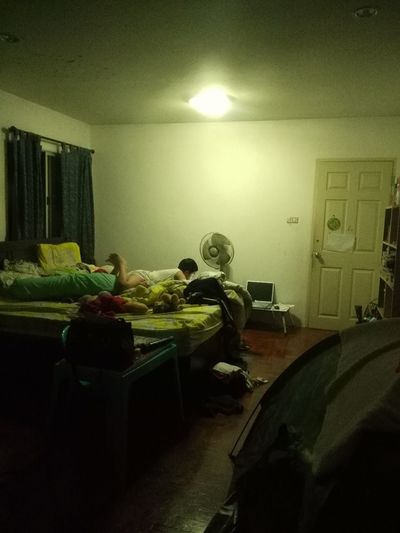 Scary movie, lol Indoors  One Person Night Great Time Together