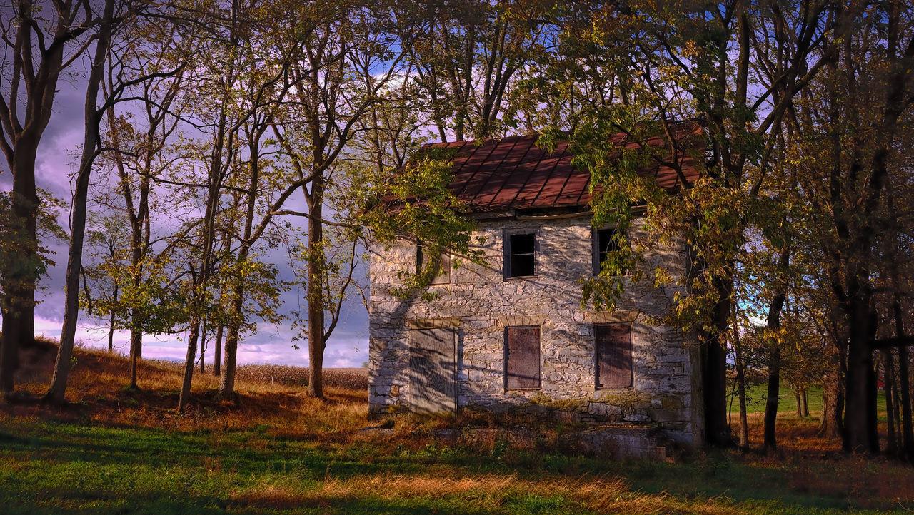 Secret Garden Abandoned Places Old Farmhouse Landscape_photography