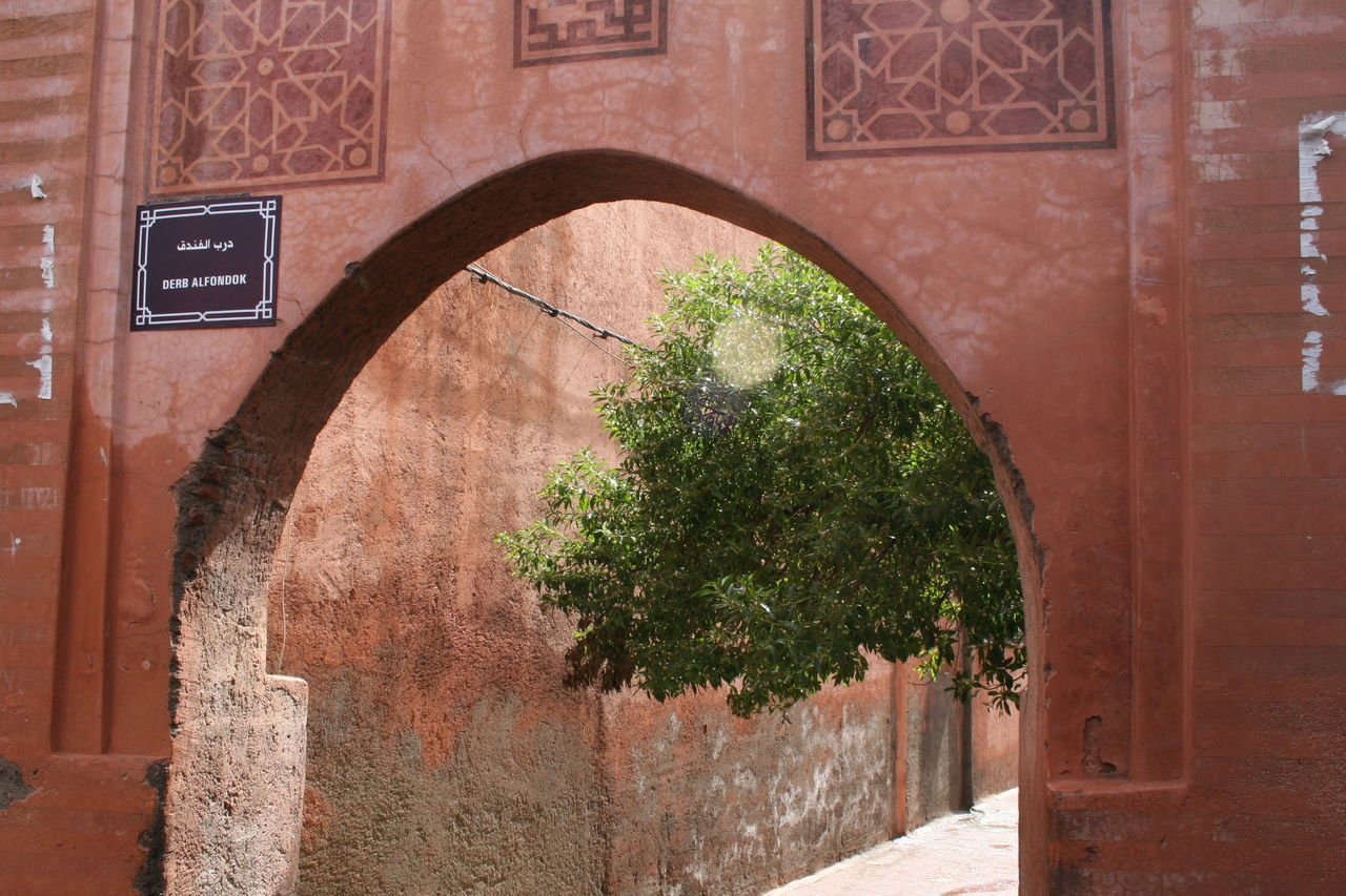Architecture City Walls Earth Colours Gate Marrakesh Moorish Architecture Morocco Tree
