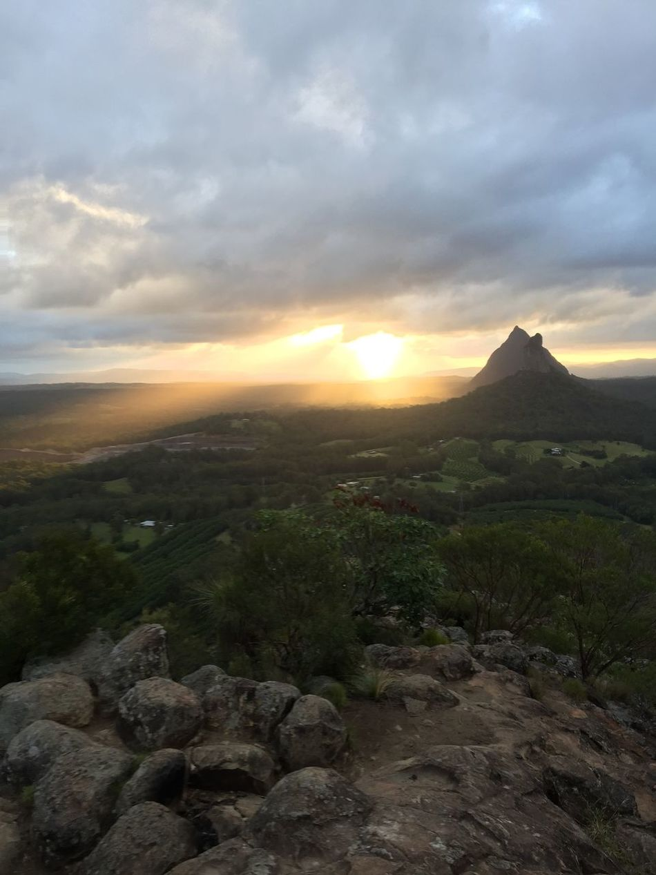 EyeEm Best Shots - Nature Glasshouse Mountains Mountain Climbing Hiking Trail Sunset Silhouettes Sunset_collection EyeEm Nature Lover Nationalpark