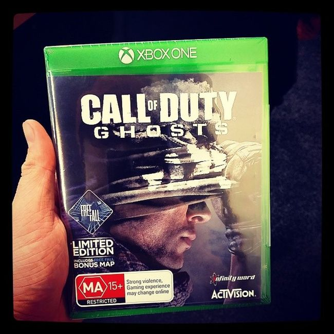 Just bought my copy of Call Of Duty Ghosts for xbox one!!!!! Xbone Codghosts CallOfDuty Nextgen Xbox Suckit  Hahabitches