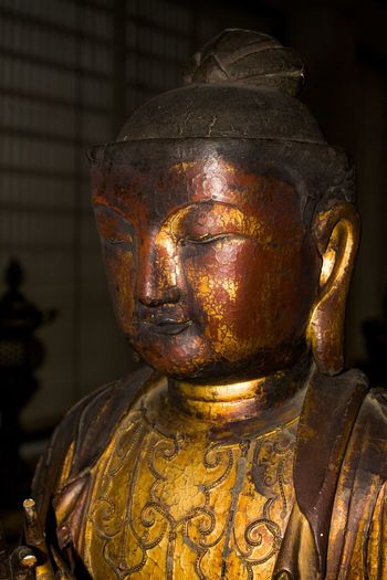 Buddha Close-up Day Gold Colored Indoors  No People Place Of Worship Religion Sculpture Spirituality Statue