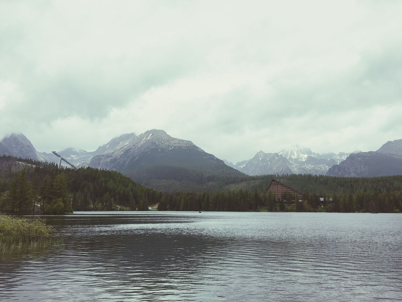 Strbske Pleso Tatry Hotel First Eyeem Photo Mobilephoto Nature Nature_collection Mauntain Tree Sky And Clouds Skyviewers Clouds