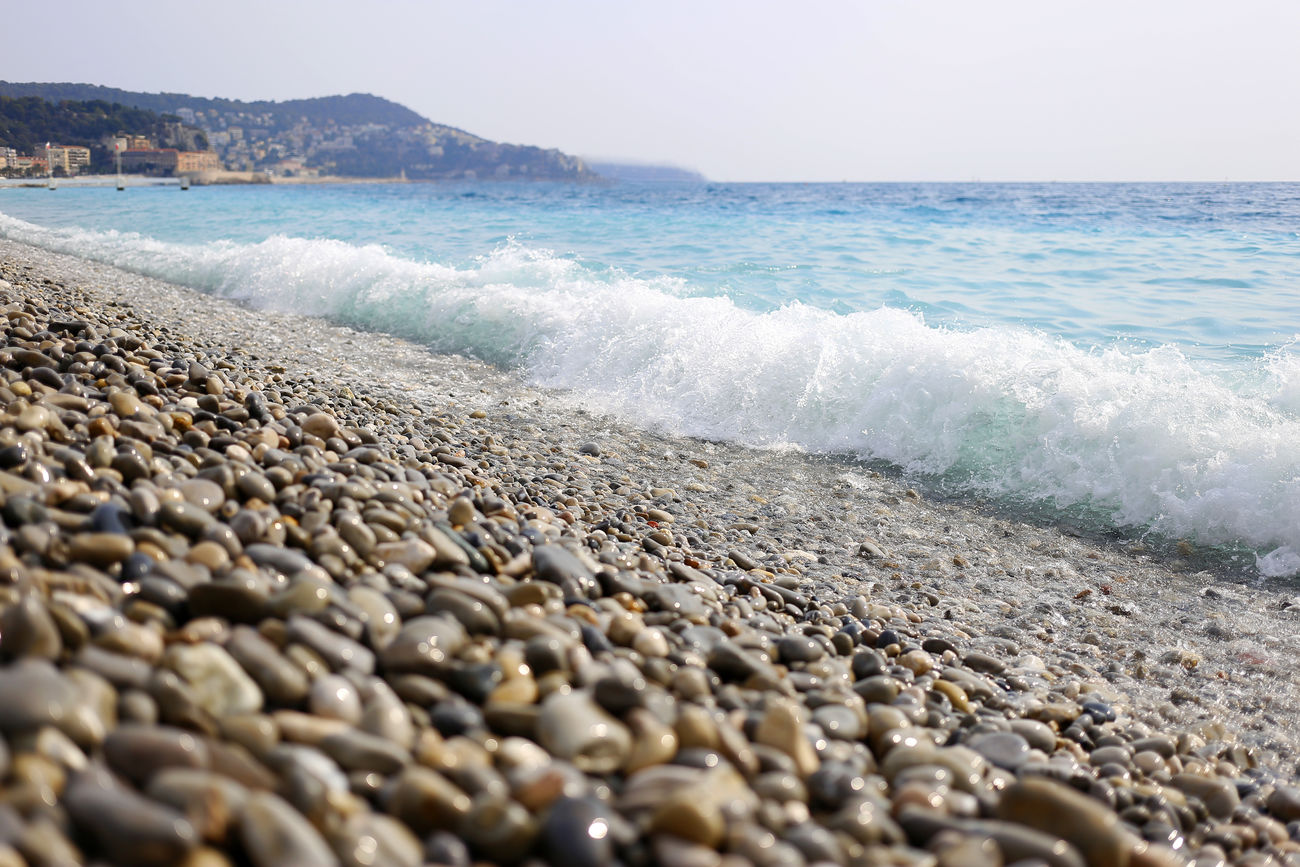Azure Beach Beauty In Nature France Horizon Over Water Nature Night No People Outdoors Rock Rock - Object Sea Sky Water Wave