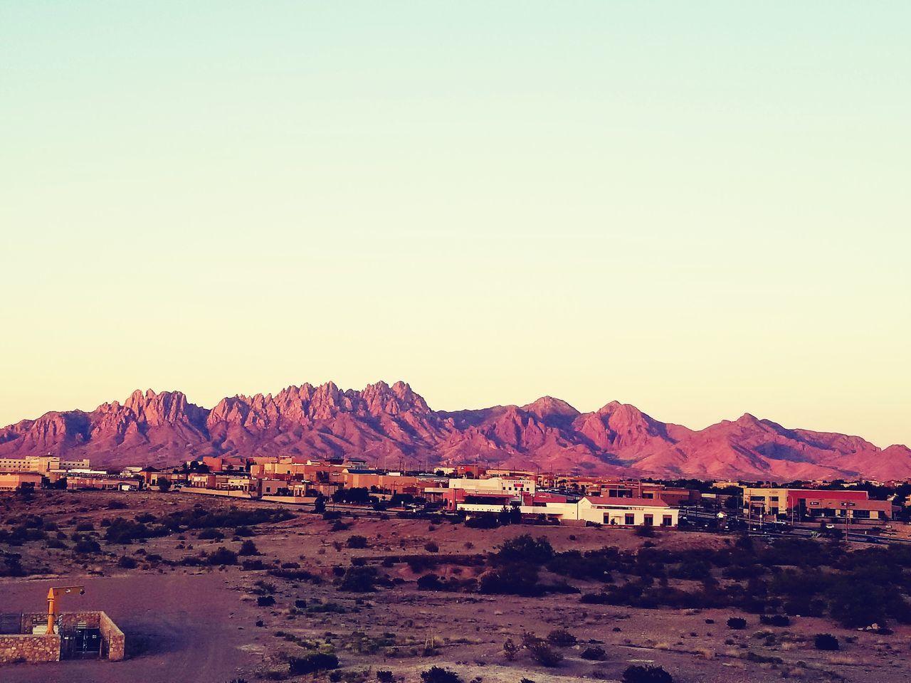 Mountain Desert Outdoors Clear Sky Las Cruces Organ Mountains