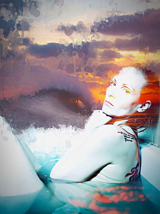 Digital Art Bright_and_bold Creative Photography Photo Manipulation Surfs Up Digitalart  Self Portrait Bathtime Catching Waves Rebelpunk