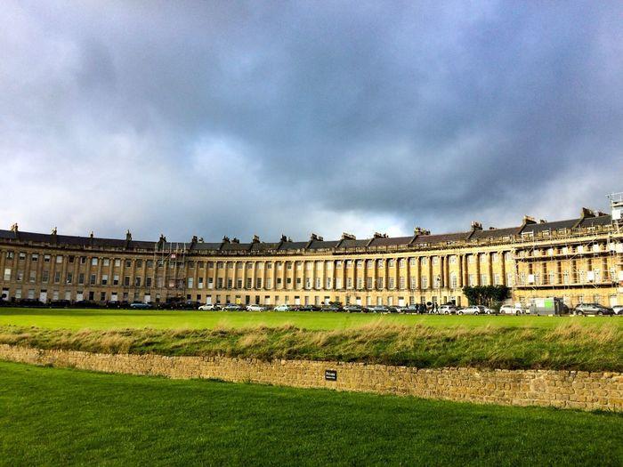 Royal Crescent, Bath Architecture Grass Sky Built Structure Travel Destinations History