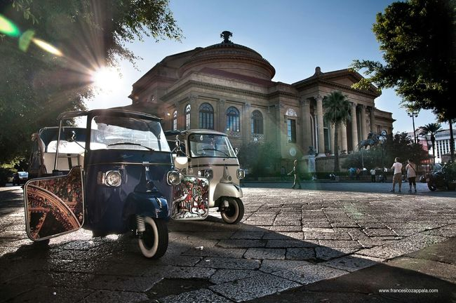 Palermo Teatromassimo Ape Traditional Sicily Tourists Nikon D90 D90photography Streetphotography