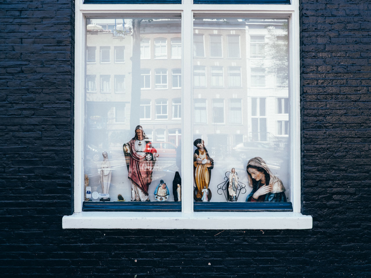 Because Jesus Amsterdam Architecture Building Exterior Close-up Human Representation Netherlands Outdoors Religion Window
