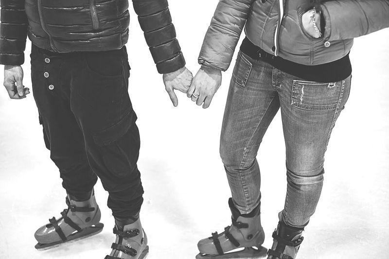 Ice Dancing Skates Ice Skating Iceskating Ice Eyeemphotography EyeEmBestPics EyeEm Best Shots EyeEm Gallery EyeEm EyeEmbestshots Capture The Moment Blackandwhite EyeEm Best Shots - Black + White Capture The Moment. Love Love ♥  Lovely Love Is In The Air Couple Hands Lovelovelove Snow Sports
