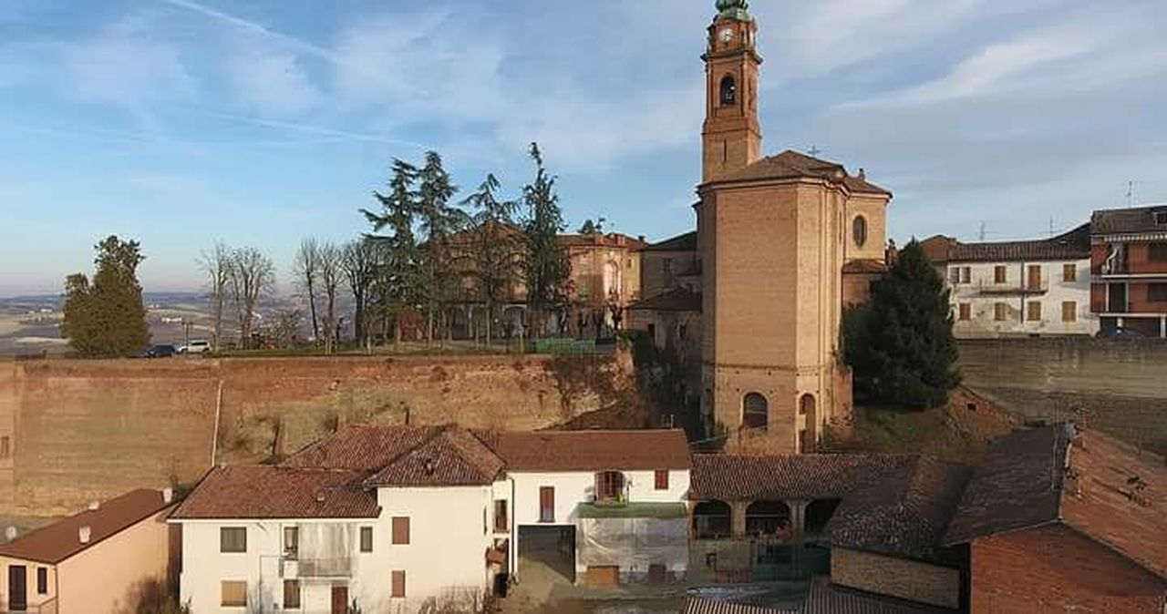 Architecture Built Structure Travel Destinations No People Sky Outdoors Close-up Day Church Aerial View Castell'alfero Dronephotography Chatedral Architecture Residential Building