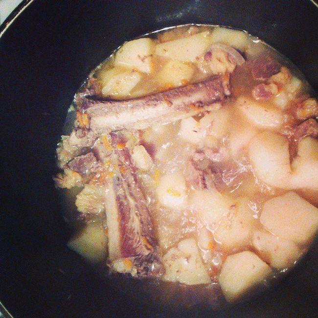 На завтрак жеребятина и картошка яготовлю какойтам пп дд худеемвкусно толстеемвкусно