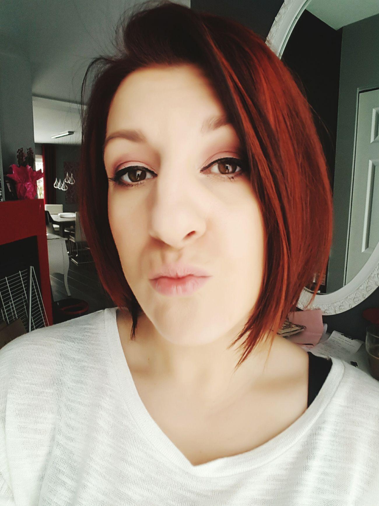 New Haircut New Hair Color :) Auburn Hair Selfie ✌ Love The Colors Makeup