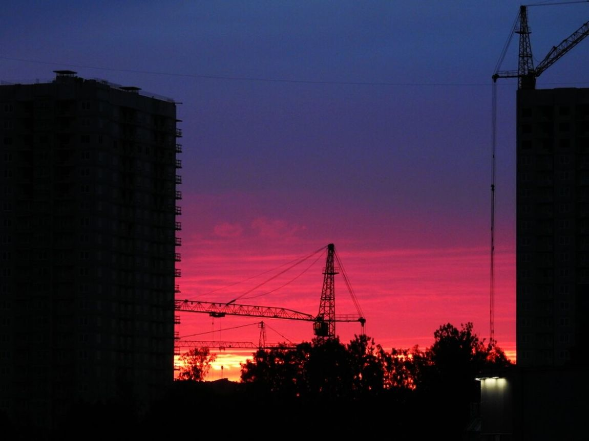 Sunset Clouds Sky Relaxing Fantastic Colors Magic Earth Blue & Red Sankt-Petersburg Russia