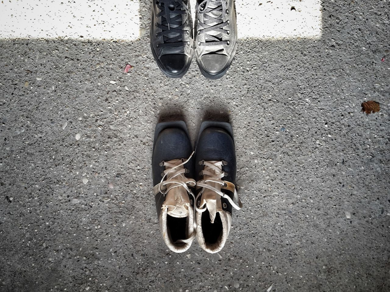 Shall we go to ski in the 70's? | Old Shoes Ski Low Section Standing Uniqueness Abstract My Converse Light And Shadow Pair Day Close-up People Shadow Winter Morning Personal Perspective Still Life Illuminated In The Attic Lieblingsteil In My Grandparents Attic EyeEm Italy |