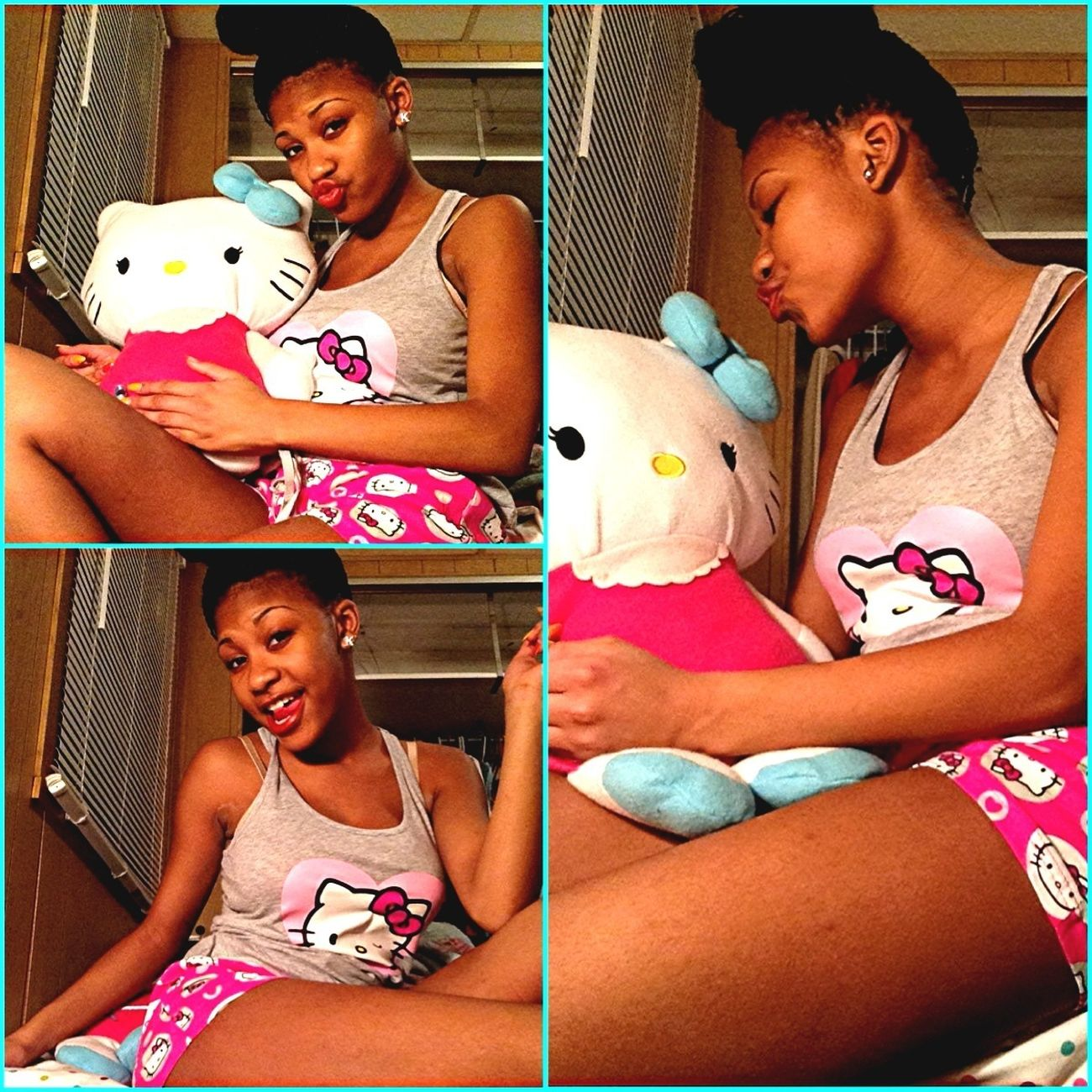 Chillin In Hello Kitty W/ Hello Kitty
