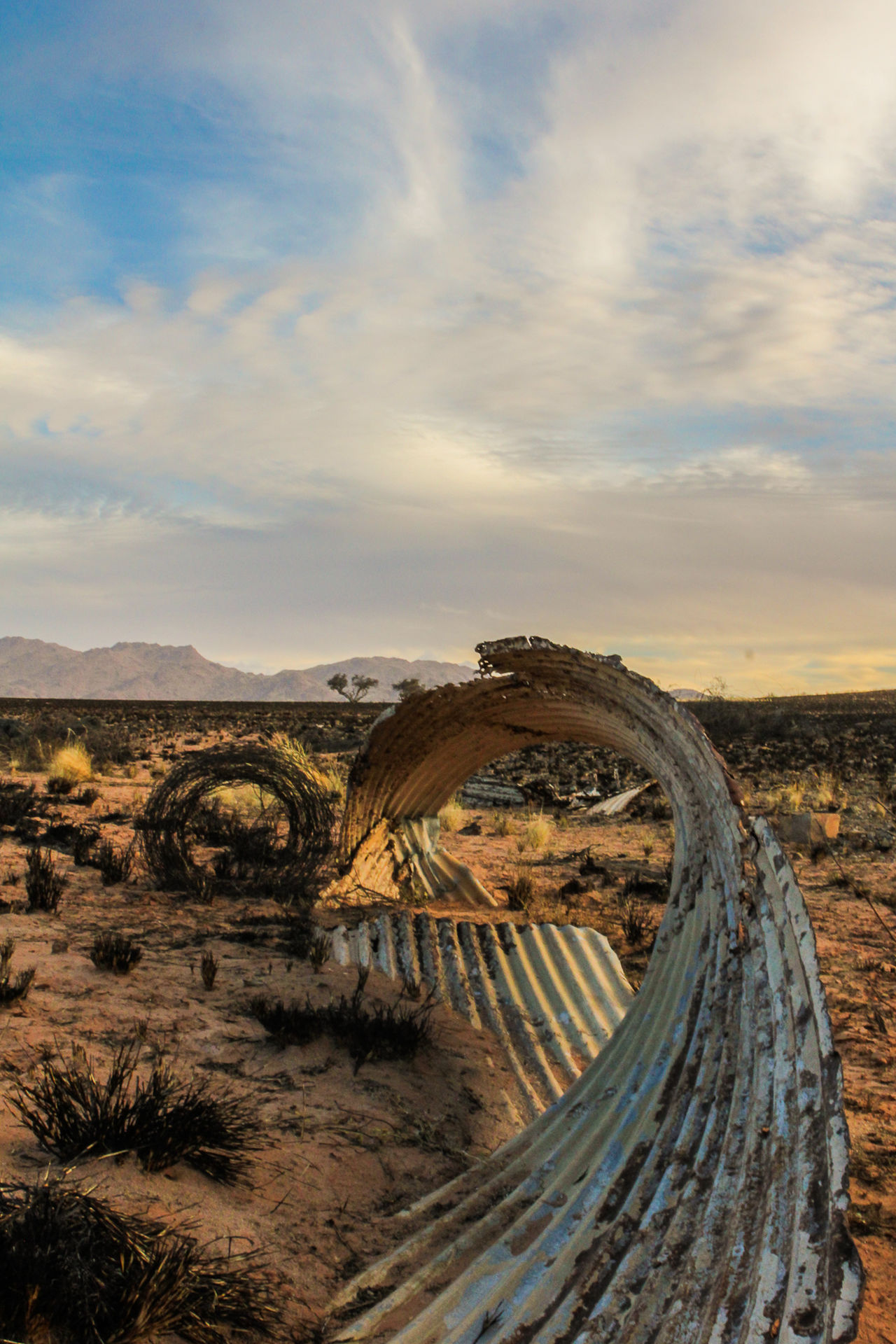 Arid Climate Curved  Curved Lines Destroyed Kanaan Namibia Outdoors Sparse Landscape Waste