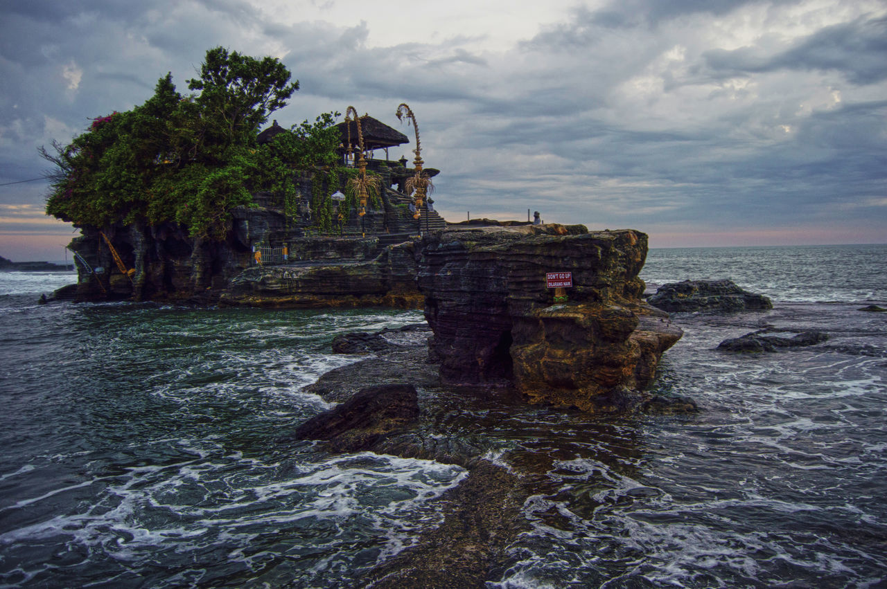 Bali Hindu Lot Nature Pray Sea Tanah Lot Temple Tourism Travel Destination