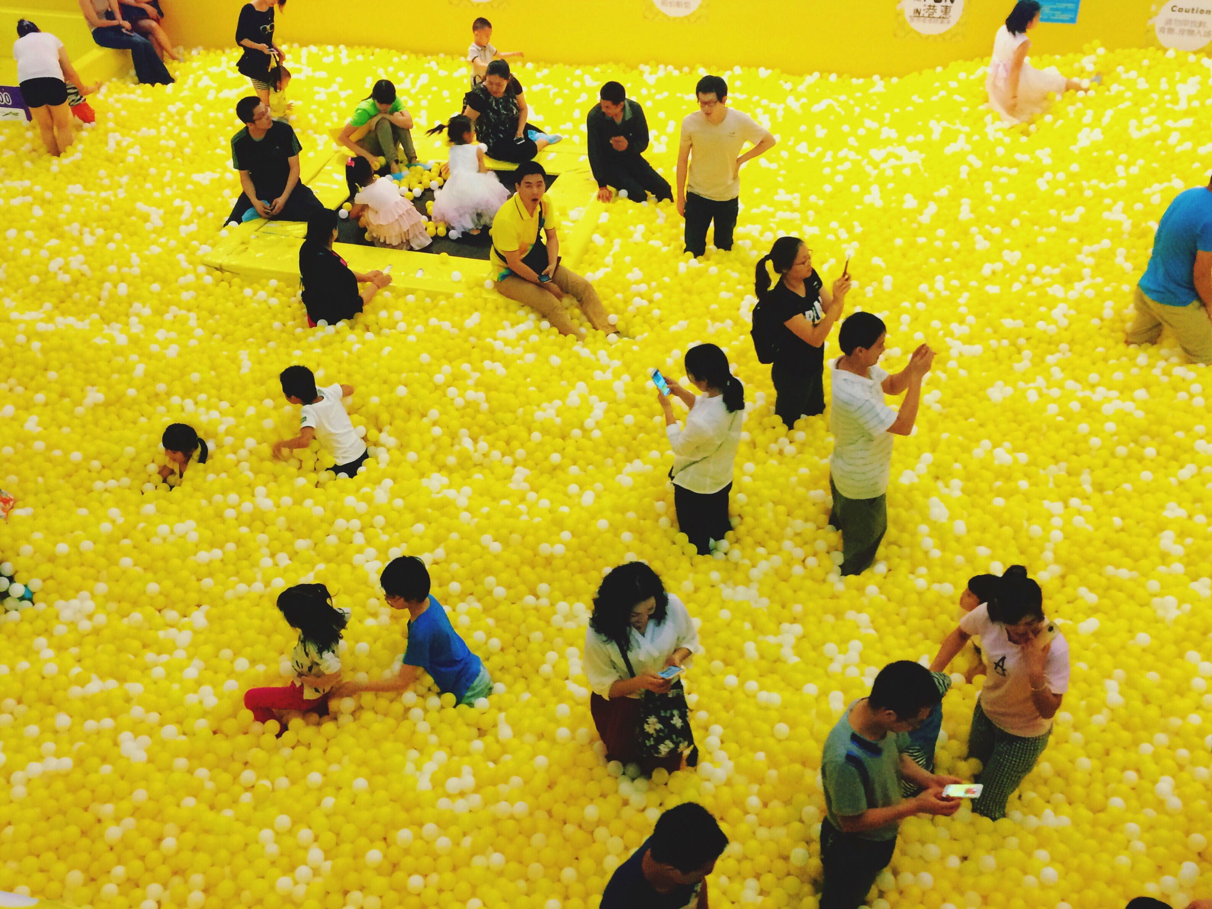 Children's Games People Yellow People Taking Photos Parents And Children Waiting For Their Children People Activity VSCO Snapseed EyeEm Parents spending time with their Children.