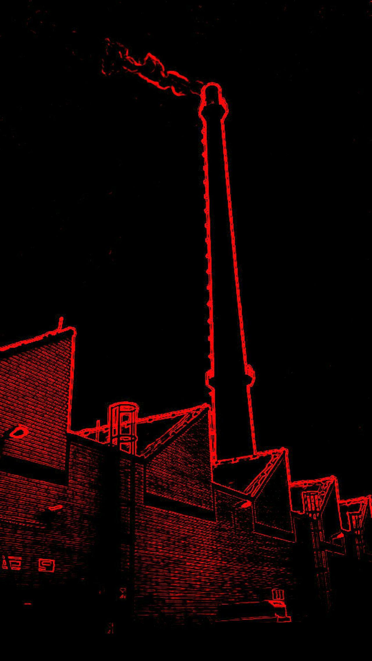 Blackandred Rooftop Chimney Schornstein Hamburg Rauch Aufsteigend