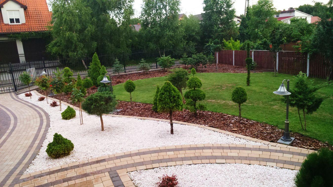 Ogród wypoczynkowy.