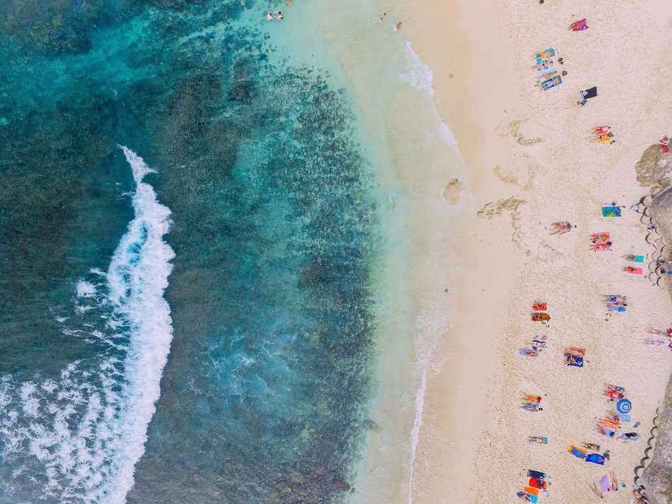 Flying High Ocean Life Nature Nature Collection Multi Colored Dream Beach Bali Abstract Day Close-up Outdoors One Person People INDONESIA Crystal Clear Waters Beach Life Phantom 3 Phantom Dji Flycam From Above  Aerial View Aerial Photography Aerialphotography Summertime