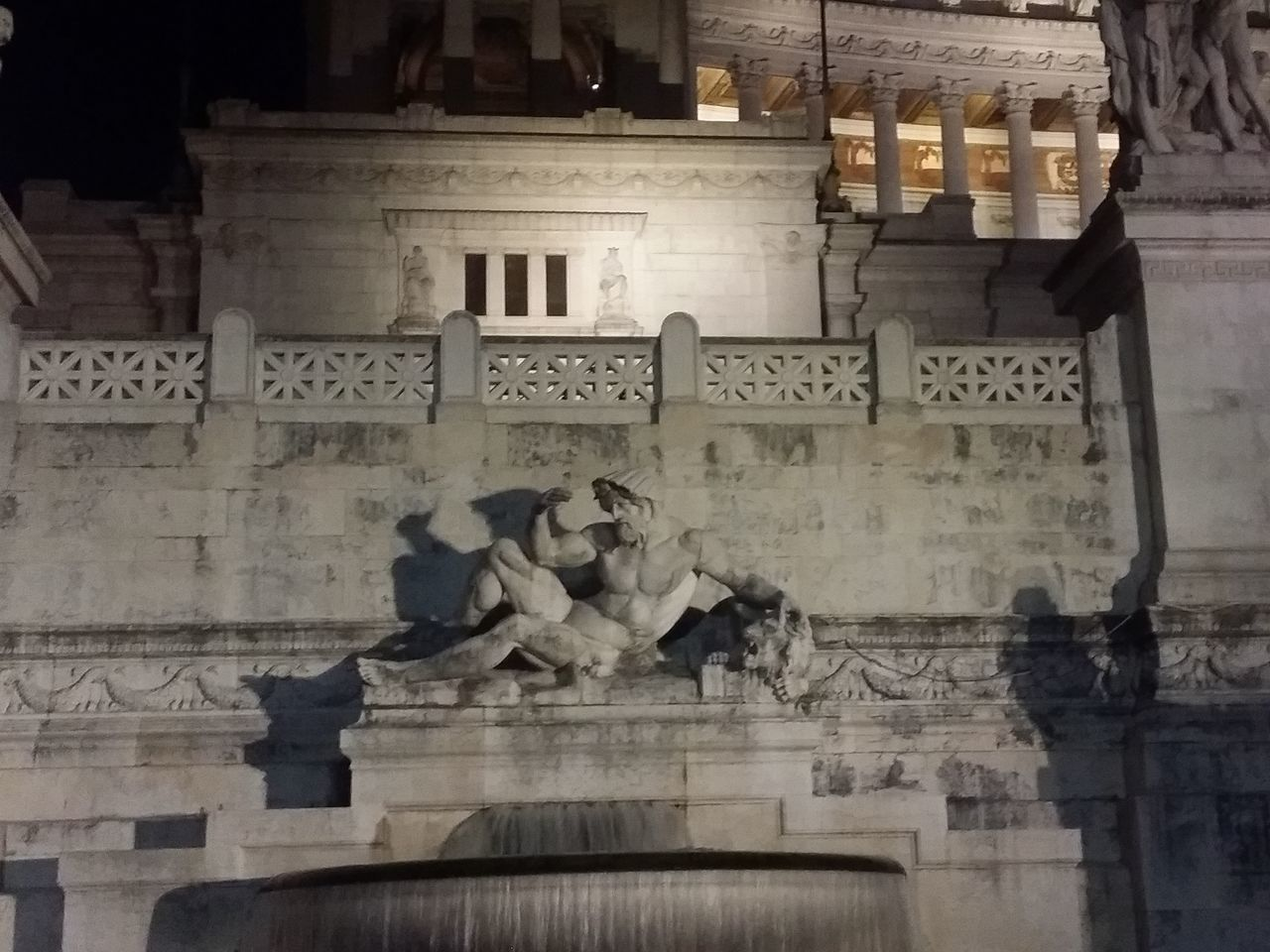 Architecture Building Exterior Built Structure City Night No People Outdoors Rome Italy Sculpture Statue