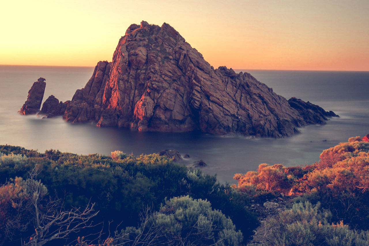 Sugarloaf sunset. Cape Naturaliste. Sunset Rock - Object Landscape Dramatic Sky Sea Nature Outdoors Atmospheric Mood Beauty Tranquil Scene 5dmkiv Beach Water Canon5DMkIV Clear Sky Canonphotography Western Australia 5d4 Canon Vacations Travel Destinations Summer Australia Seascape Idyllic