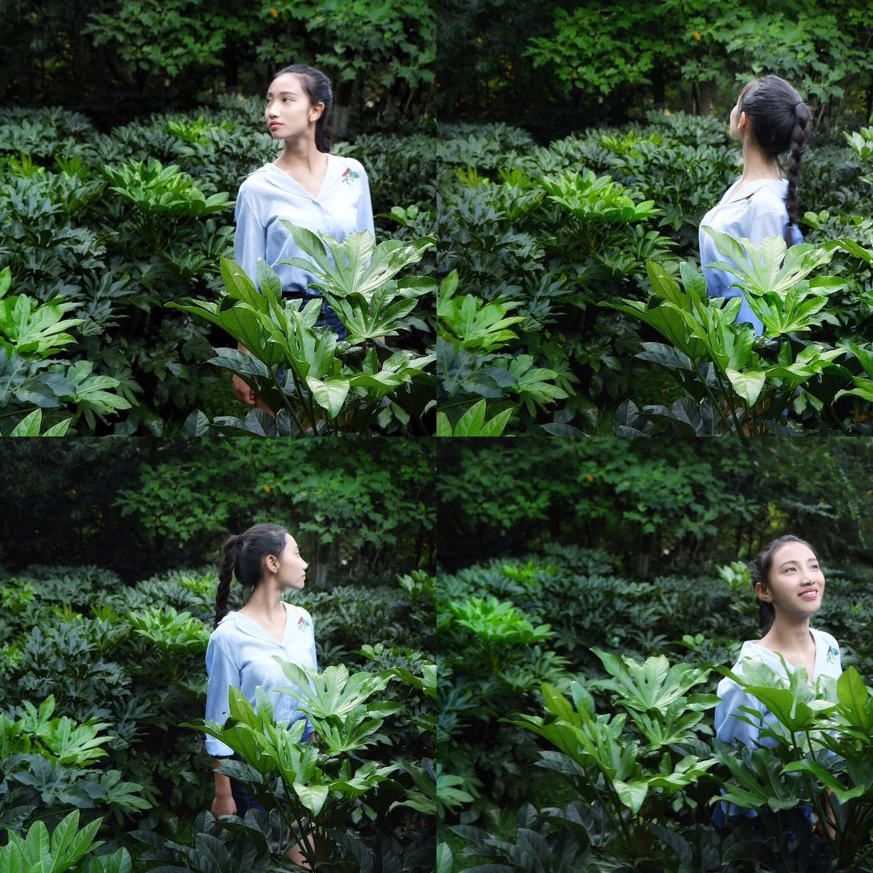 The wizard of Oz Park - Man Made Space Siste sister Lifestyles Cute Girls Gree green Smiling Green Color Plant Enjoyment Black Hair BIG Eyemphotography Person Bea Taking Photos Four four Listening Watching Summe Hello World Yunnan