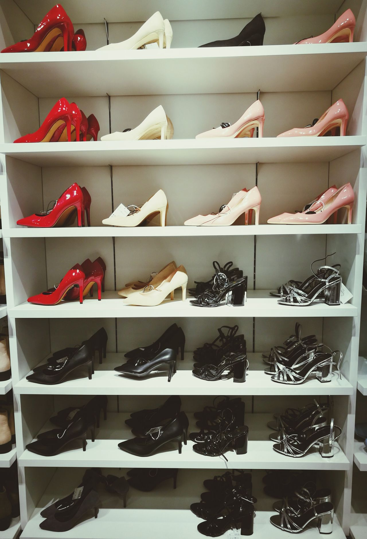 Shelf Store Retail  Choice Warehouse Red Variation Large Group Of Objects Boutique Business Finance And Industry No People Indoors  Workshop Day Shoes Of The Day Shoes ♥ Shoeselfie Shoesporn Redshoes