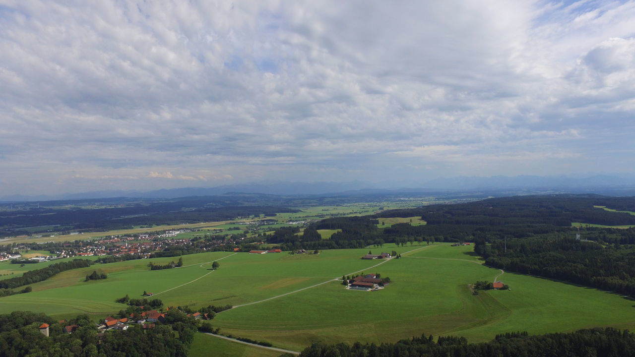 Cloud - Sky Cloudy Dji Drone  Dronephotography Field First Eyeem Photo Grass Green Color Landscape Nature Remote Scenics Sky